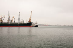 Sea port. Background horizontal image Stock Photo