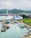 Sea port of Batumi, Georgia Royalty Free Stock Image