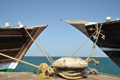 Sea port of Berbera. Sea port in the Gulf of Aden Royalty Free Stock Image
