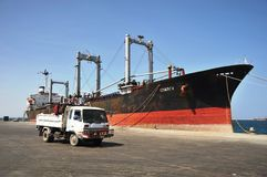 Sea port of Berbera in the Gulf of Aden Stock Image