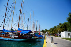 sea port in Bodrum  , Turkey, on the Aegean sea. Royalty Free Stock Photos