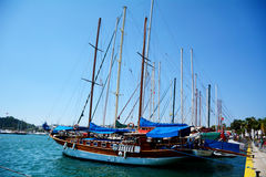 Sea port in Bodrum  , Turkey, on the Aegean sea. Royalty Free Stock Photo