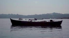 Sea port in the Chapora. Assagao village Goa India march 21 2019: Sea port stock footage