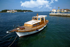 Sea port in city of Porec Royalty Free Stock Images