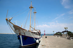 Sea port in city of Porec Stock Photography