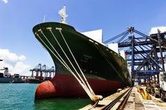 Sea port and cranes Royalty Free Stock Photos