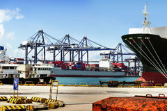 Sea port and cranes in china Stock Images