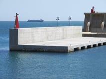 Sea port entrance Stock Photos