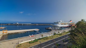 Sea port Funchal, Madeira island, Portugal stock video footage
