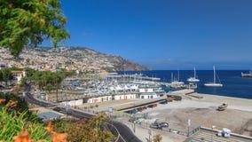 Sea port Funchal, Madeira island, Portugal stock video