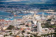 Sea port in Haifa. Royalty Free Stock Images