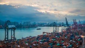 Sea Port In Hong Kong royalty free stock photos