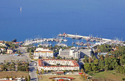 Sea port of Kemer city, Antalya province, Turkey Stock Image