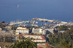 Sea port of Kemer city, Turkey Royalty Free Stock Photography