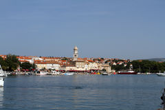 Sea and port of Krk Stock Photography