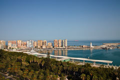 Sea port in Malaga Stock Photo