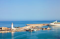 Sea port in Malaga Royalty Free Stock Photography