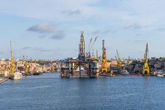 Sea port at Malta Stock Photography