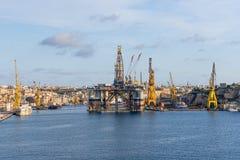 Sea port at Malta Stock Photography