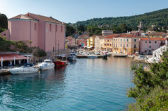 Sea port and marina  at Veli losinj Stock Photo