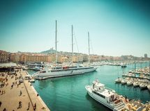 Sea-port of Marseille Royalty Free Stock Images