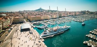 Sea-port of Marseille Royalty Free Stock Photo