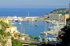 Sea port of Monte-Carlo Stock Image