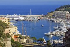 Sea port of Monte-Carlo Stock Photography