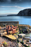 The sea at port mulgrave north yorkshire, UK Royalty Free Stock Photography