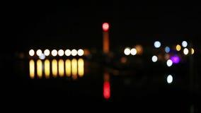 Sea Port of nights stock footage