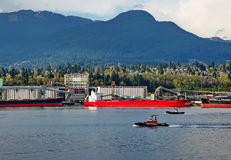 Sea port of North Vancouver Stock Photos