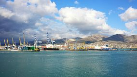 Sea port of Novorossiysk. Russia. Sammer. Stock Image