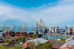 Sea Port of Odessa Black Sea Ukraine. Stock Image