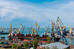 Sea Port of Odessa Black Sea Ukraine. Royalty Free Stock Image