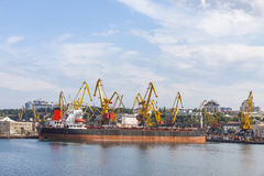 Sea port of Odessa, Black Sea, Ukraine Stock Image