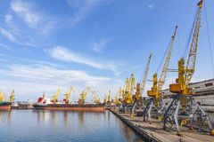 Sea port of Odessa, Black Sea, Ukraine Royalty Free Stock Image
