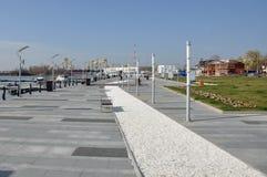 Sea port panorama Stock Photos