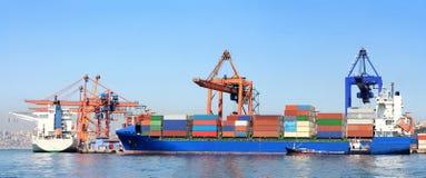 Sea port panorama Stock Images