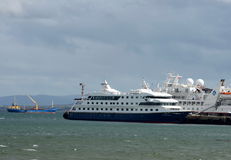 Sea port of Punta Arenas in Chile. Stock Images