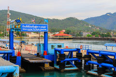 Sea port of seatran ferry terminal a pier koh samui,surat thani Royalty Free Stock Image