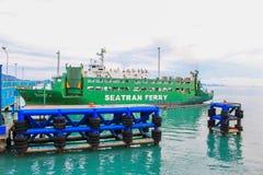 Sea port of seatran ferry terminal a pier koh samui,surat thani Royalty Free Stock Image