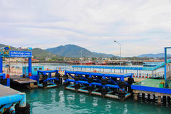 Sea port of seatran ferry terminal a pier koh samui,surat thani Stock Photos