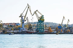 Sea port of Sevastopol Stock Photo
