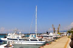 Sea port of Sochi Royalty Free Stock Photo