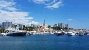 Sea port. In Sochi Royalty Free Stock Photo