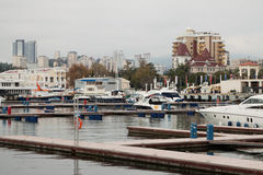 Sea port of Sochi Stock Images