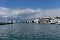 Sea port of Sochi. In quiet weather Stock Photography