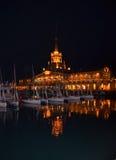 Sea port of Sochi in the september night. Stock Image