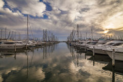 Sea port. South of France. Languedoc. Royalty Free Stock Photo