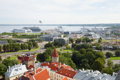 Sea port in Tallinn Royalty Free Stock Images